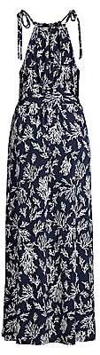 MICHAEL Michael Kors Women's Tie-Strap Reef Print Maxi Dress
