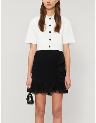 Sandro Laurene high-waist knitted skirt