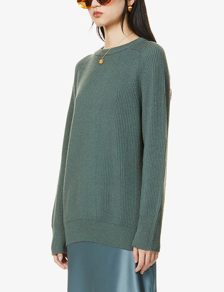 Max Mara Slouchy ribbed wool jumper