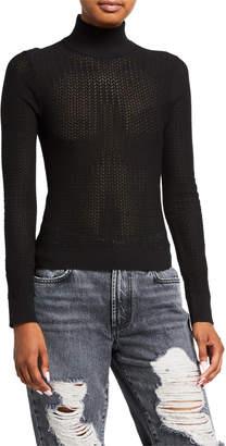 Alice + Olivia Lanie Turtleneck Long-Sleeve Pullover