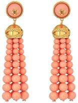 Tory Burch Beaded Tassel Earrings