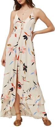 O'Neill Ryder Floral Print Maxi Dress