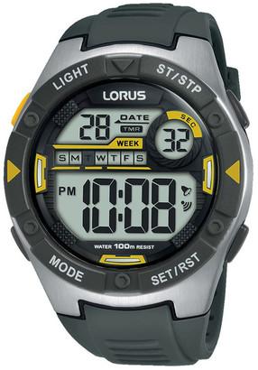 Lorus Gents Grey Digital Sports Watch R2397MX-9
