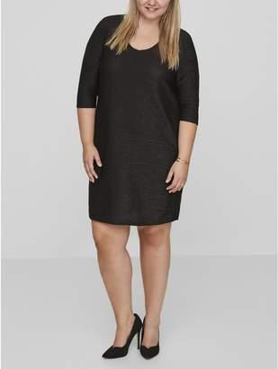 M&Co Junarose ribbed shimmer dress
