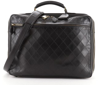 Chanel Diamond Stitch Weekender Quilted Leather Large