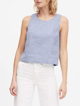 Banana Republic Linen-Cotton Cropped Shell