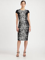 Carolina Herrera Lace-Print Jacquard Dress