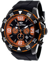 Seapro Diver Mens Orange Dial Black Silicone Strap Watch