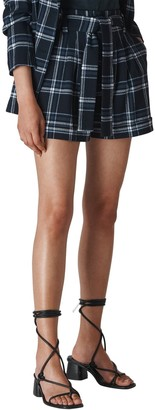 Whistles Belted Check Shorts