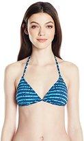 Roxy Women's Pop Swim Tiki Triangle Bikini Top
