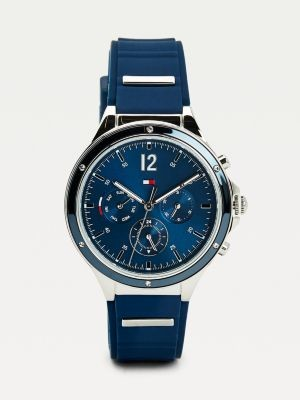 Tommy Hilfiger Multifunction Silicone Strap Navy Watch