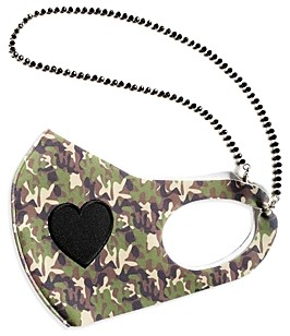 JewelErry Camo Heart & Chain Face Mask - 100% Exclusive