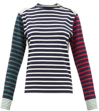 Wales Bonner Carroll Breton-stripe Long-sleeved Cotton T-shirt - Navy Multi