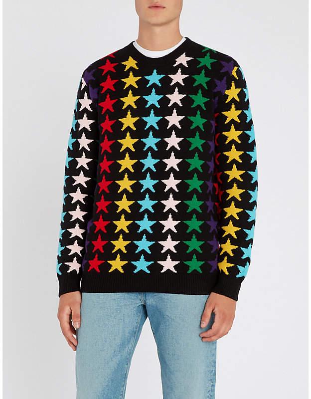 Gucci Star-intarsia wool jumper