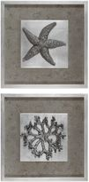 Uttermost Starfish & Coral Shadow Box Wall Art (Set of 2)
