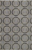 Capel Area Rug, Graphique 3390-300 Ringlets Pewter 5' x 8'