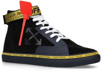 Off-White Tonal Mid-Top Vulcanized Sneakers