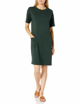 Daily Ritual Amazon Brand Women's Pima Cotton and Modal Interlock Patch-Pocket T-Shirt Dress