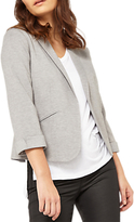 Miss Selfridge Petite Ponte Notch Jacket, Mid Grey