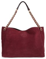 Tory Burch 'Marion' Suede Tote