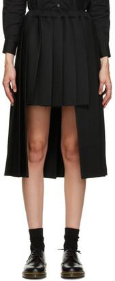 Comme des Garçons Comme des Garçons Black Pleated Short Front Skirt