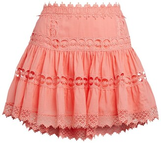 Charo Ruiz Ibiza Tiered Greta Mini Skirt