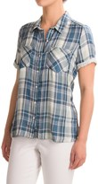 Lucky Brand Two-Layer Plaid Shirt - Short Sleeve (For Women)