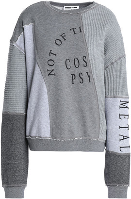 McQ Patchwork Embroidered Cotton And Modal-blend Sweatshirt