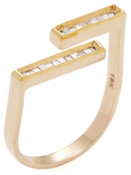 Maiyet 18K Yellow Gold & 0.30 Total Ct. Diamond Baguette Bar Wrap Ring