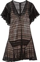Marissa Webb Pleated lace dress