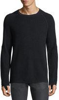 Helmut Lang Merino Wool-Cotton Thermal Sweater
