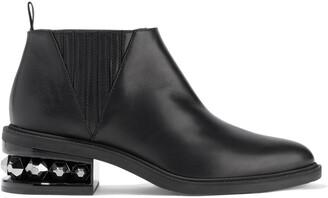 Nicholas Kirkwood Suzi Studded Leather Ankle Boots
