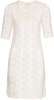 Vanessa Bruno Pointelle crochet half-length sleeve dress