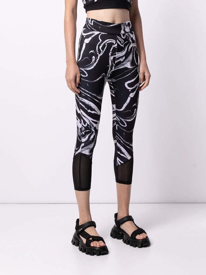 Thumbnail for your product : Fila Lois marbled print capri leggings