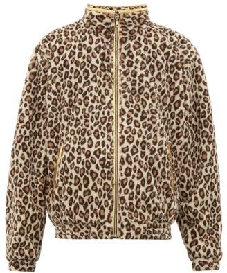 Noon Goons Leogold Leopard-print Fleece Jacket - Mens - Brown Multi