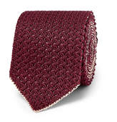 Brioni - 6cm Reversible Knitted Silk and Linen-Blend Tie
