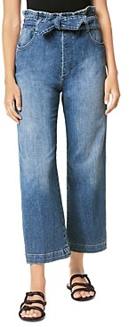 Joe's Jeans Paperbag-Waist High-Rise Cropped Wide-Leg Jeans in Busybee