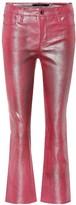 J Brand Selena mid-rise crop leather pants