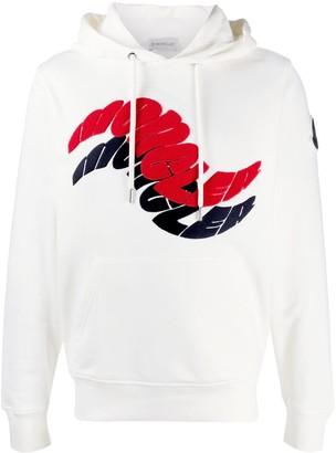 Moncler Wavy Logo Hoodie