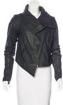 Doma Asymmetrical Leather Jacket