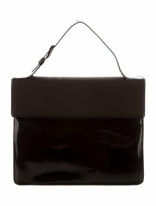 Prada Vela Spazzolato Briefcase brown