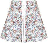Topshop Petite Floral Skater Skirt