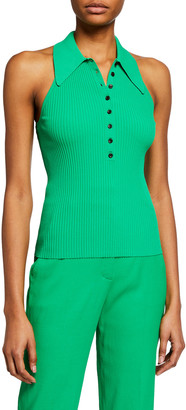 A.L.C. Asher Ribbed Polo Top
