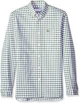 Lacoste Men's Long Sleeve Oxford Tiled Button Down Collar reg Fit Woven Shirt, Ch5814