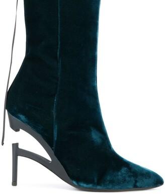 Unravel Project Broken heel velvet boots