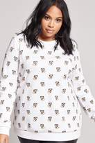 Forever 21 FOREVER 21+ Plus Size Dog Graphic Pullover