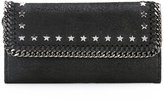 Stella McCartney star studded 'Falabella' continental wallet - women - Artificial Fur - One Size