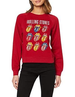 Only Women's Onlrolling Stones L/S Box SWT Longsleeve T-Shirt,12 (Size: M)