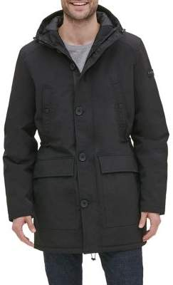 Kenneth Cole New York Long-Sleeve Hooded Coat