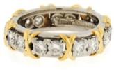 Tiffany & Co. 18K Yellow Gold Jean Schlumberger Platinum Diamond Ring